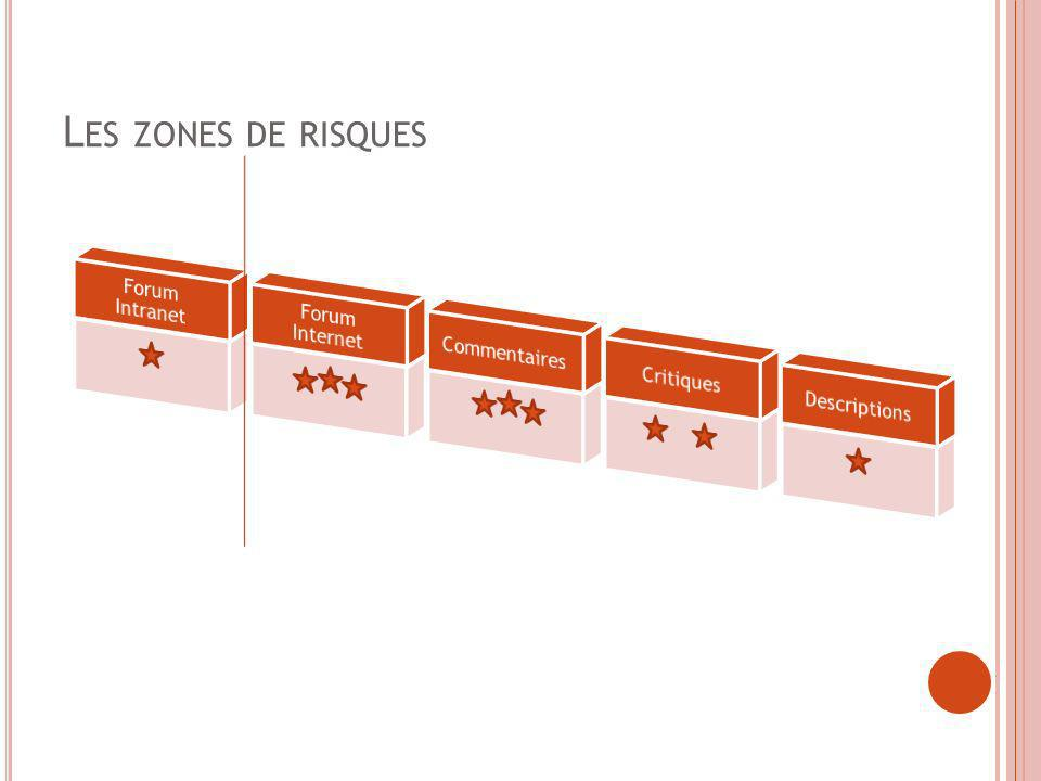 Les zones de risques Forum Intranet Forum Internet Commentaires