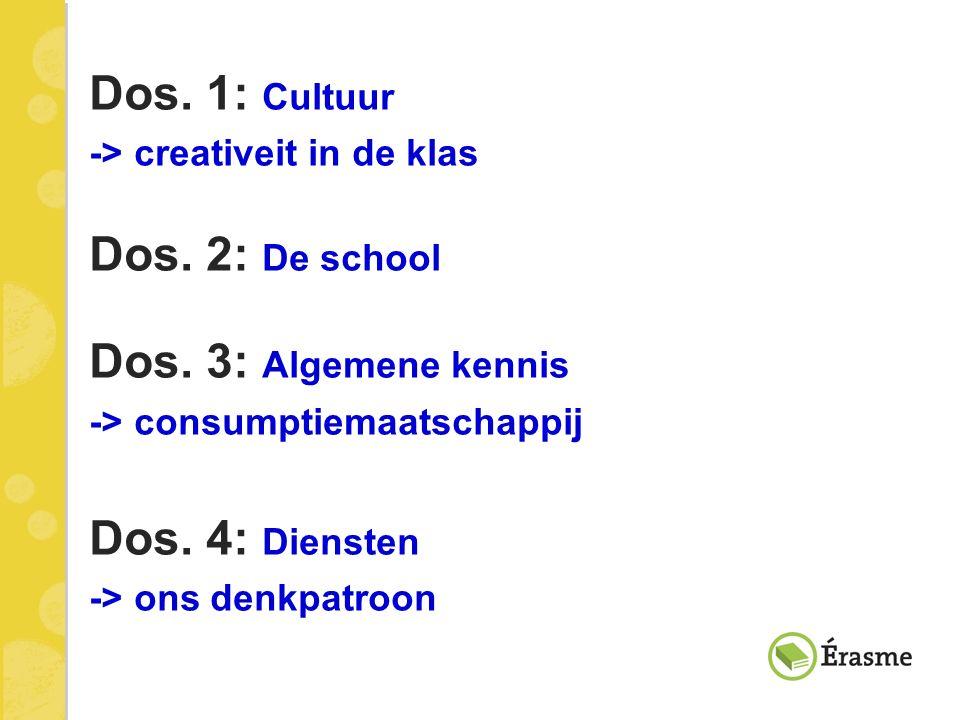 Dos. 1: Cultuur Dos. 2: De school Dos. 3: Algemene kennis