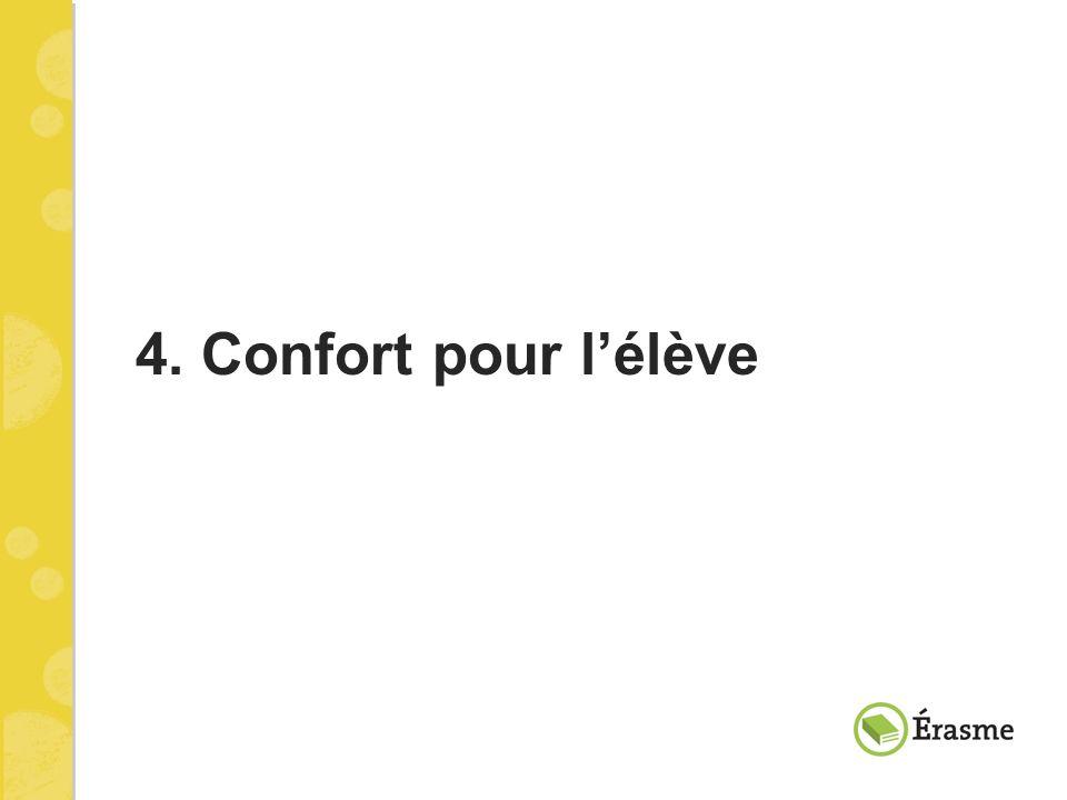 4. Confort pour l'élève