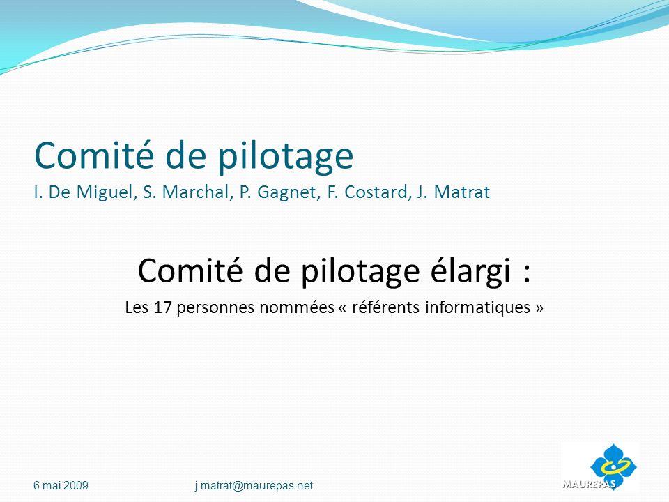 Comité de pilotage I. De Miguel, S. Marchal, P. Gagnet, F. Costard, J