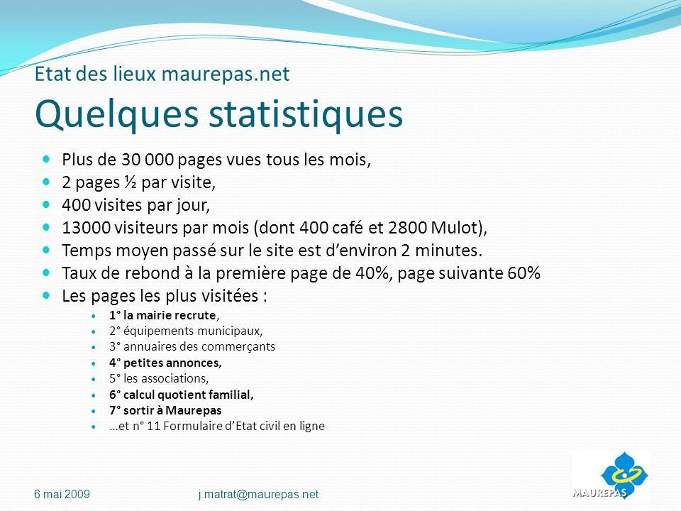 Etat des lieux maurepas.net Quelques statistiques