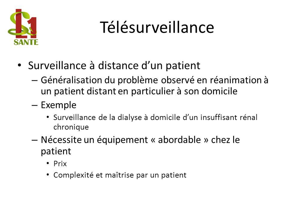Télésurveillance Surveillance à distance d'un patient