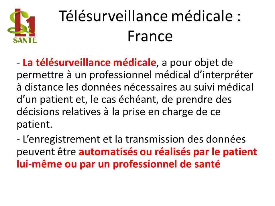 Télésurveillance médicale : France
