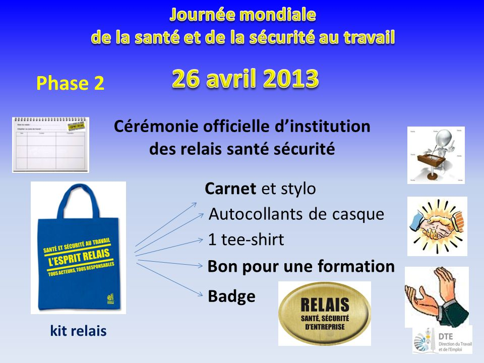26 avril 2013 Phase 2 Journée mondiale
