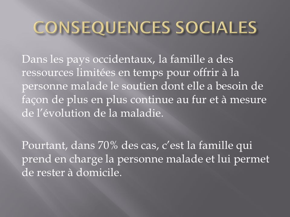 CONSEQUENCES SOCIALES