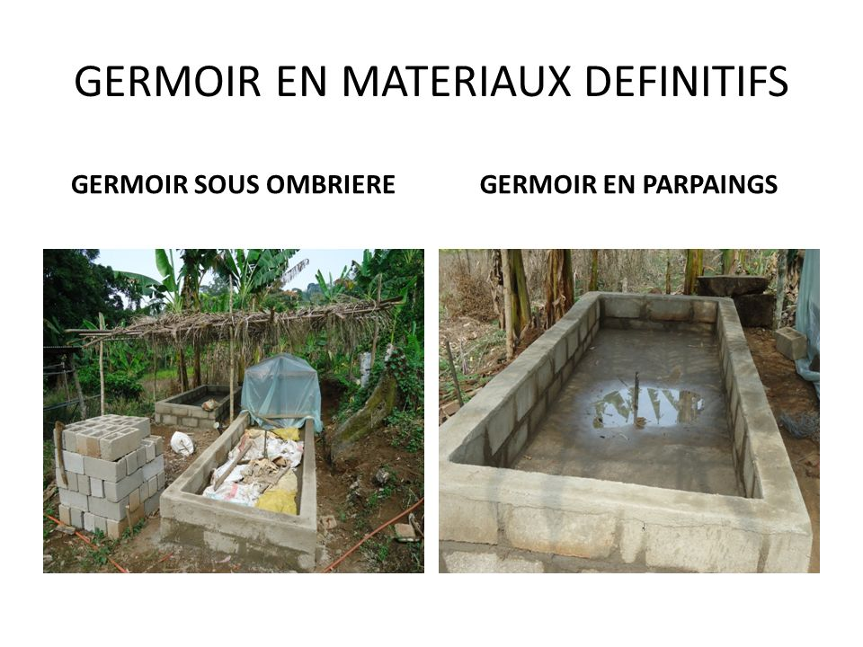 GERMOIR EN MATERIAUX DEFINITIFS