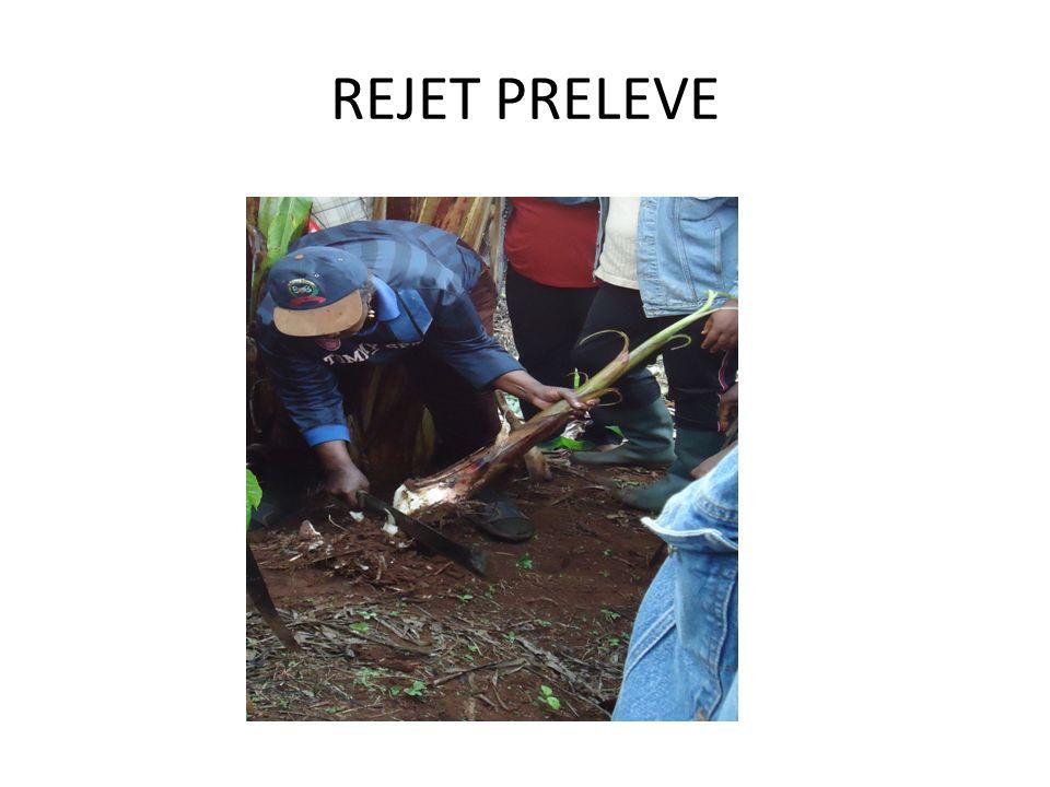 REJET PRELEVE