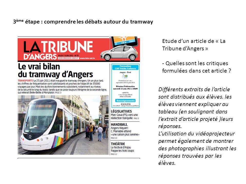3ème étape : comprendre les débats autour du tramway