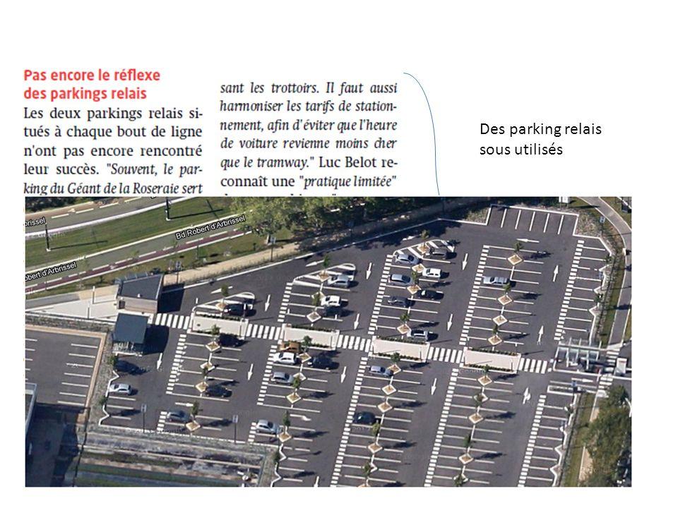 Des parking relais sous utilisés