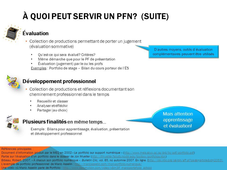 À quoi peut servir un PFN (suite)