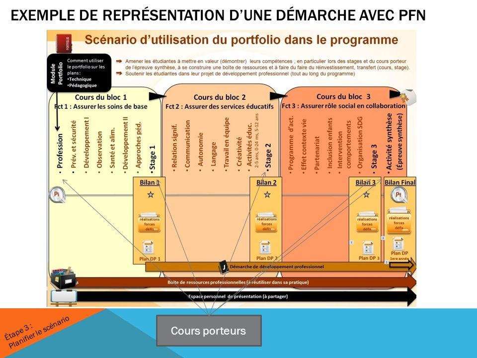 Exemple de représentation D'une démarche avec PFN