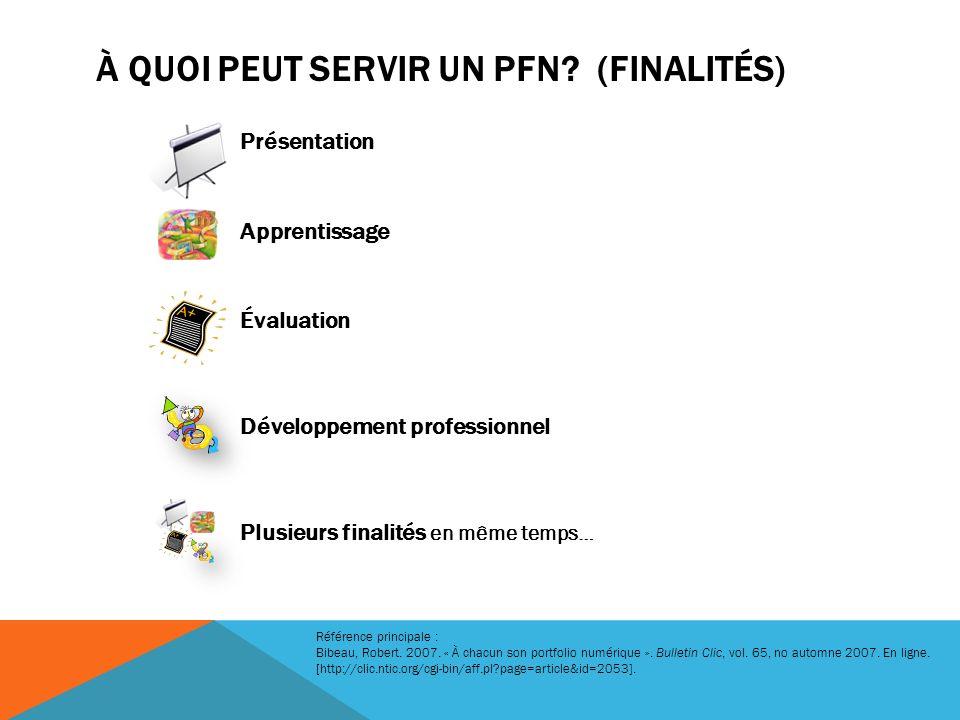 À quoi peut servir un PFN (Finalités)