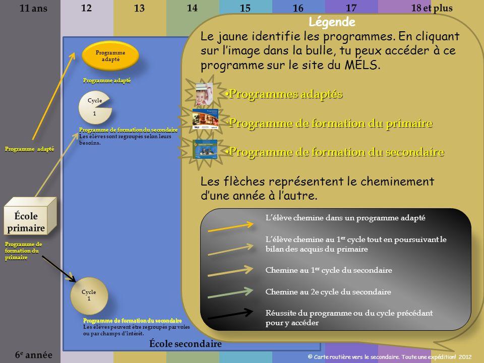 Programme de formation du primaire