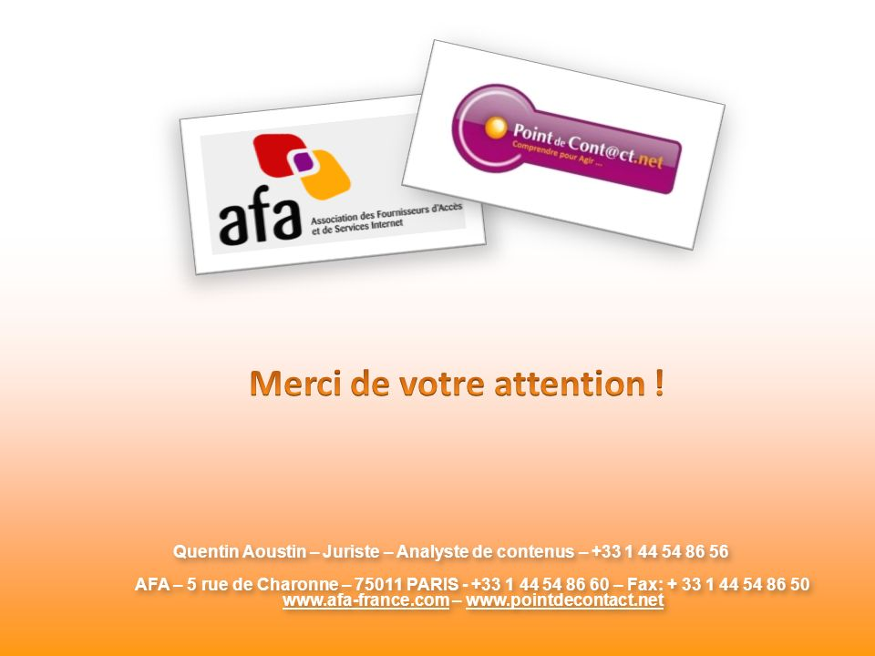 Merci de votre attention ! www.afa-france.com – www.pointdecontact.net