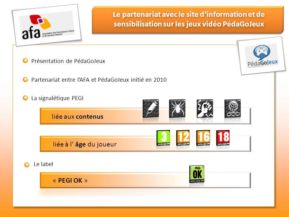 Le partenariat avec le site d'information et de sensibilisation sur les jeux vidéo PédaGoJeux