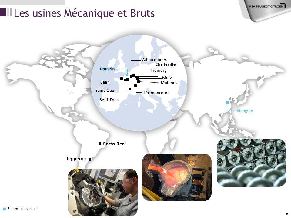 Les usines Mécanique et Bruts