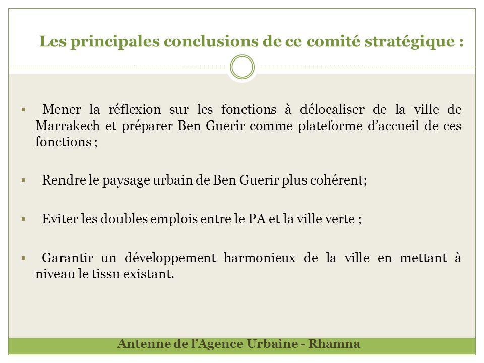 Les principales conclusions de ce comité stratégique :