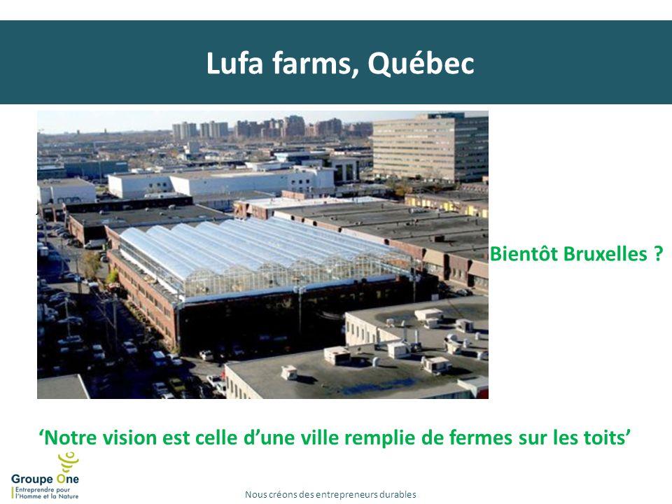 Lufa farms, Québec Bientôt Bruxelles