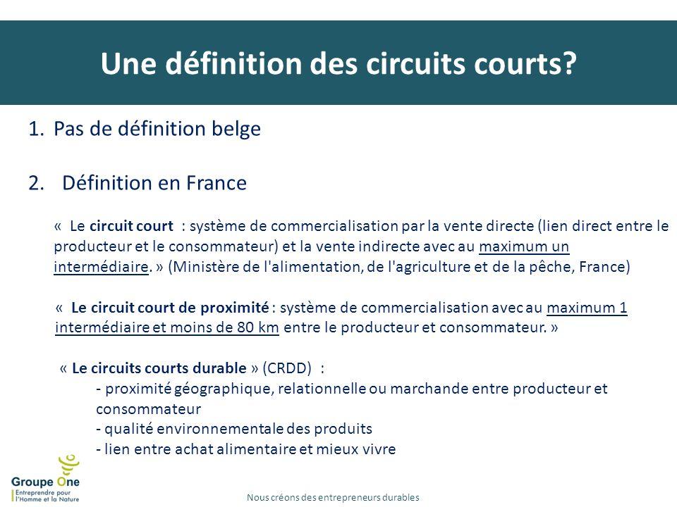 Une définition des circuits courts