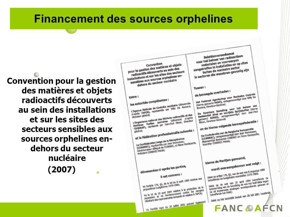 Financement des sources orphelines