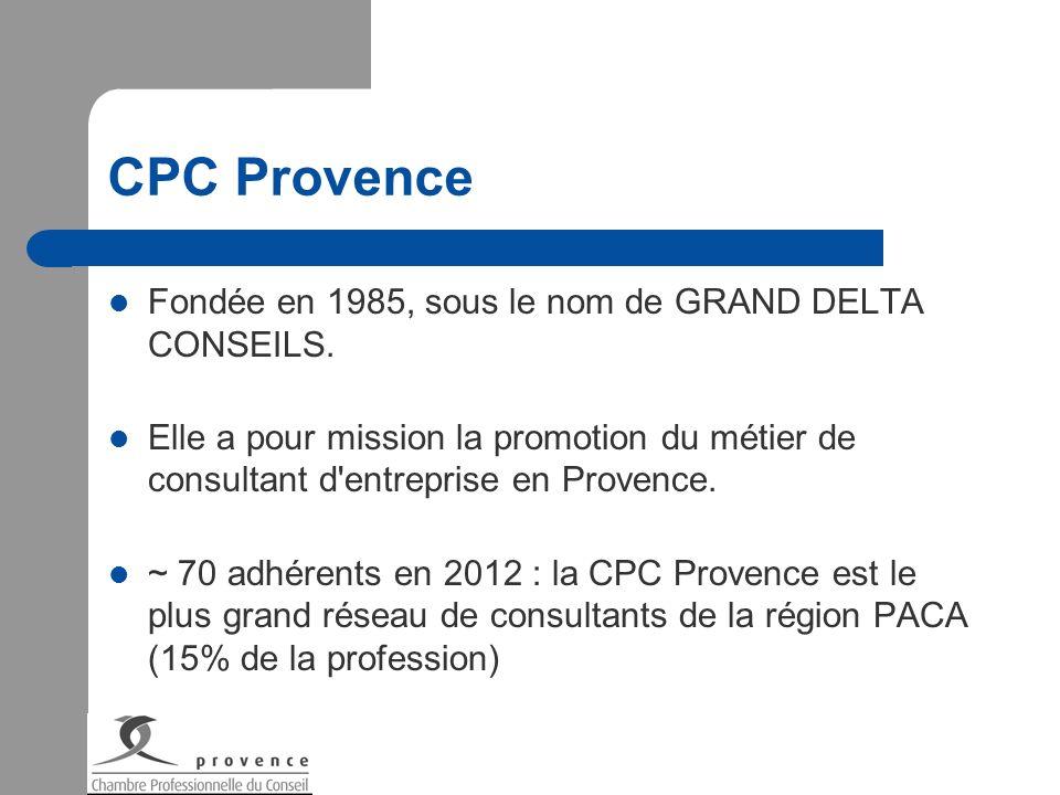 CPC Provence Fondée en 1985, sous le nom de GRAND DELTA CONSEILS.