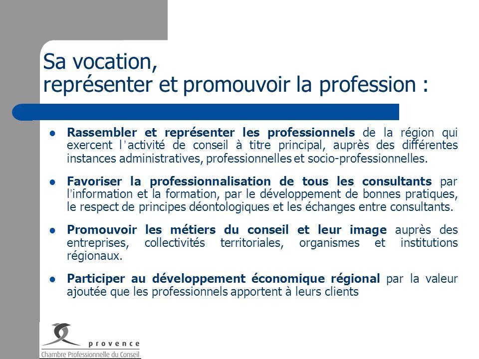Sa vocation, représenter et promouvoir la profession :