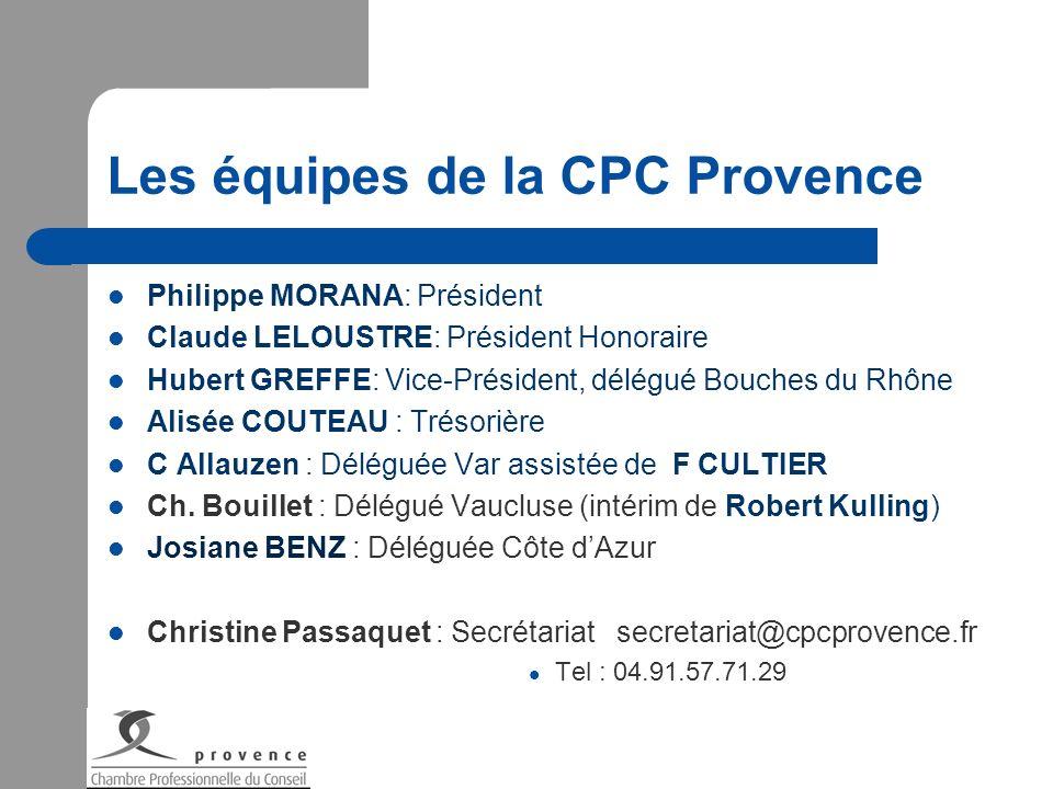 Les équipes de la CPC Provence