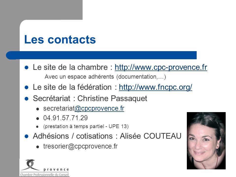 Les contacts Le site de la chambre : http://www.cpc-provence.fr