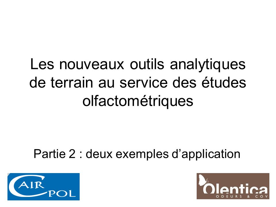 Partie 2 : deux exemples d'application