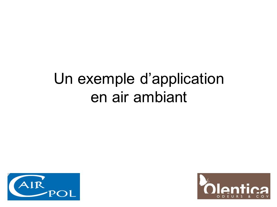Un exemple d'application en air ambiant