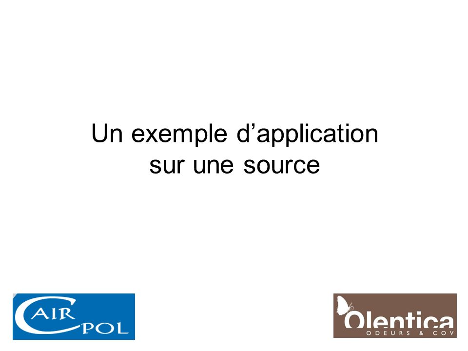 Un exemple d'application sur une source