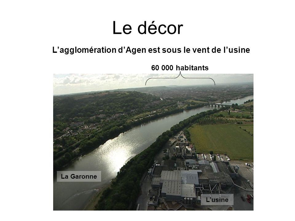L'agglomération d'Agen est sous le vent de l'usine