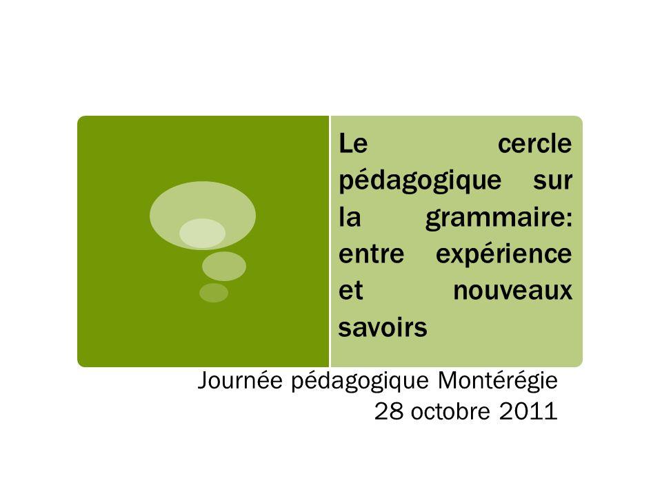 Journée pédagogique Montérégie 28 octobre 2011
