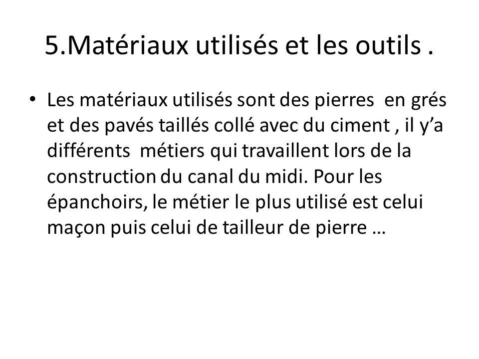 5.Matériaux utilisés et les outils .