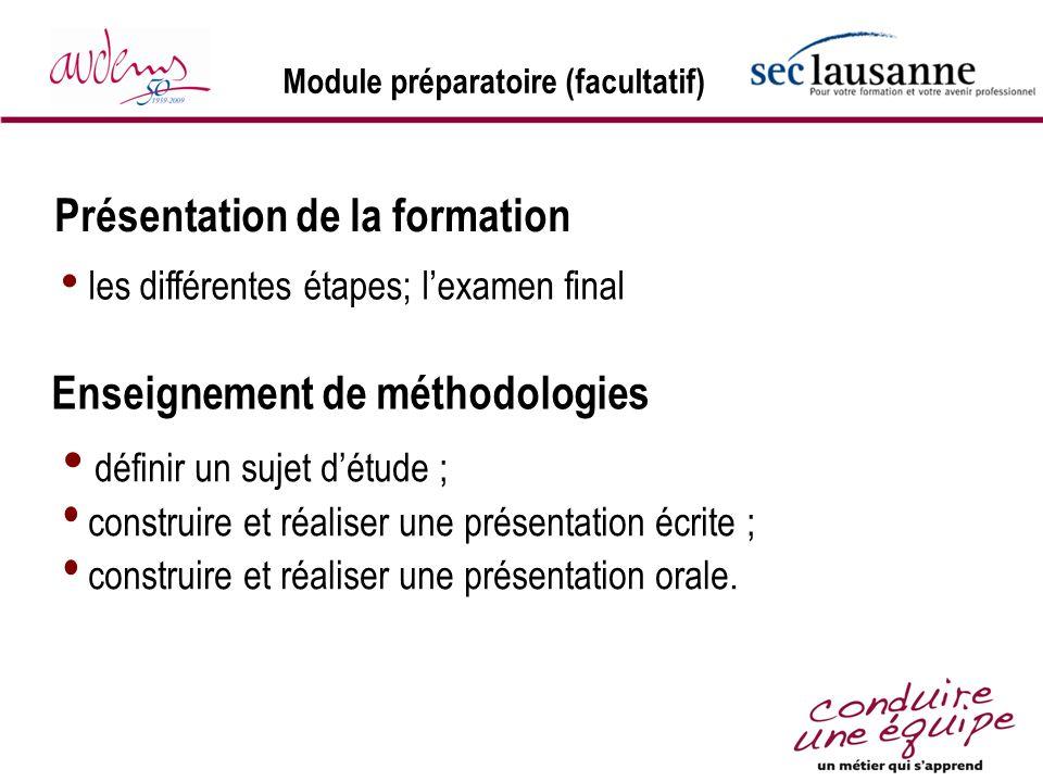Module préparatoire (facultatif)