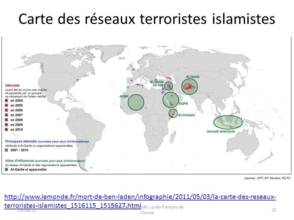 Carte des réseaux terroristes islamistes