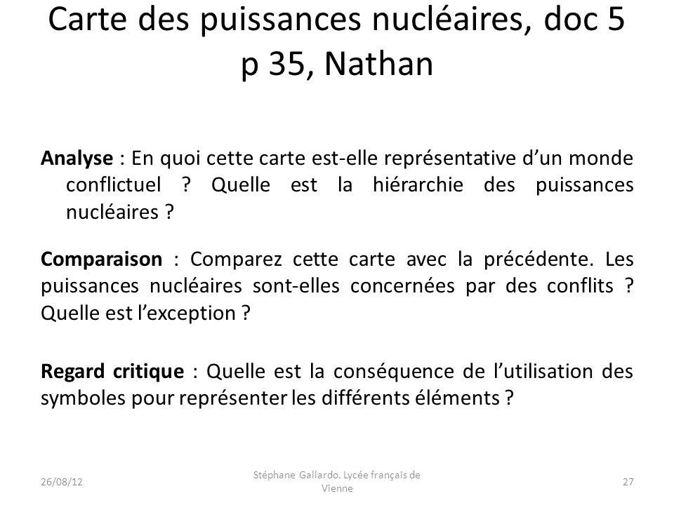 Carte des puissances nucléaires, doc 5 p 35, Nathan