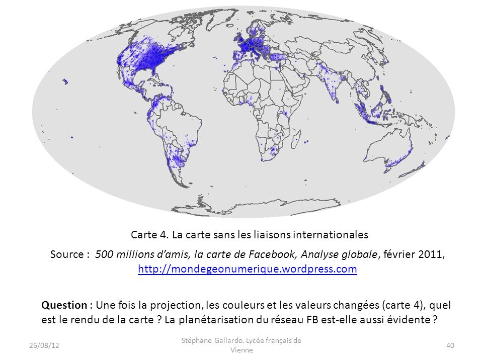 Carte 4. La carte sans les liaisons internationales