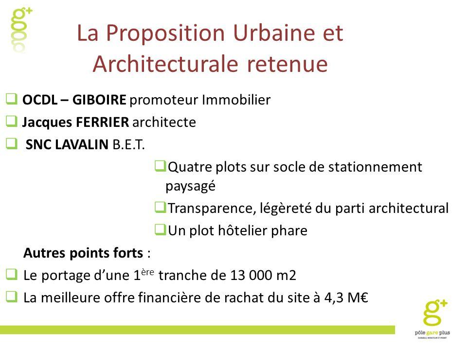 La Proposition Urbaine et Architecturale retenue