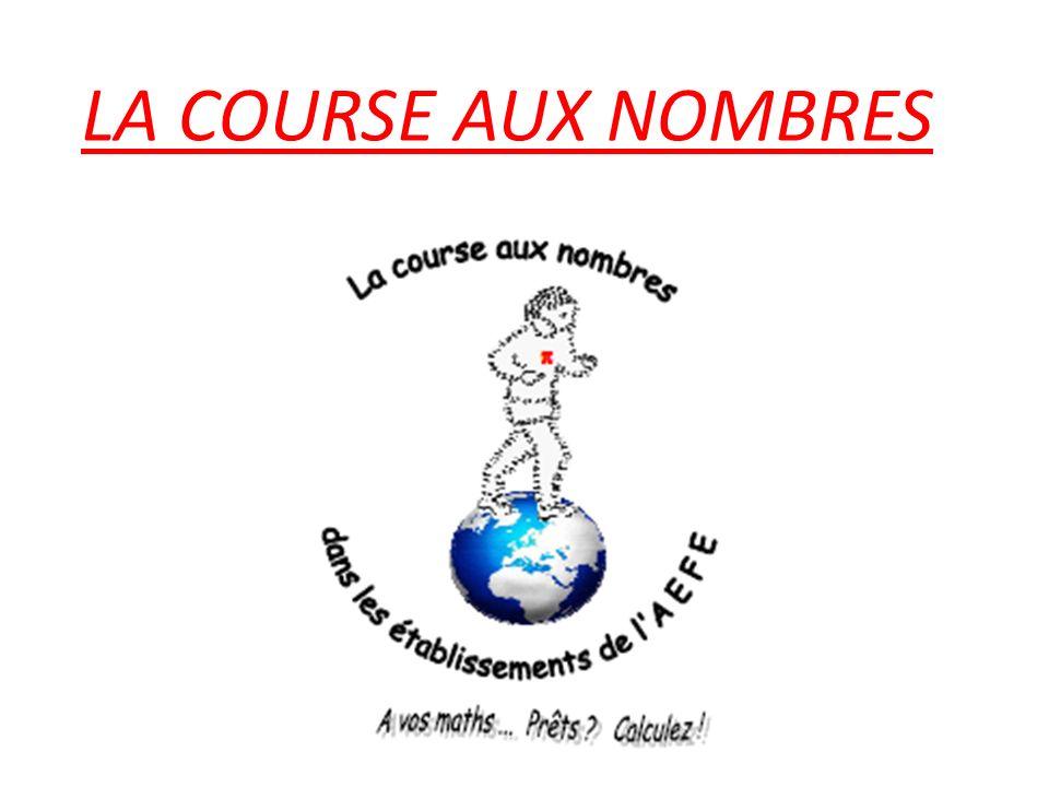 LA COURSE AUX NOMBRES