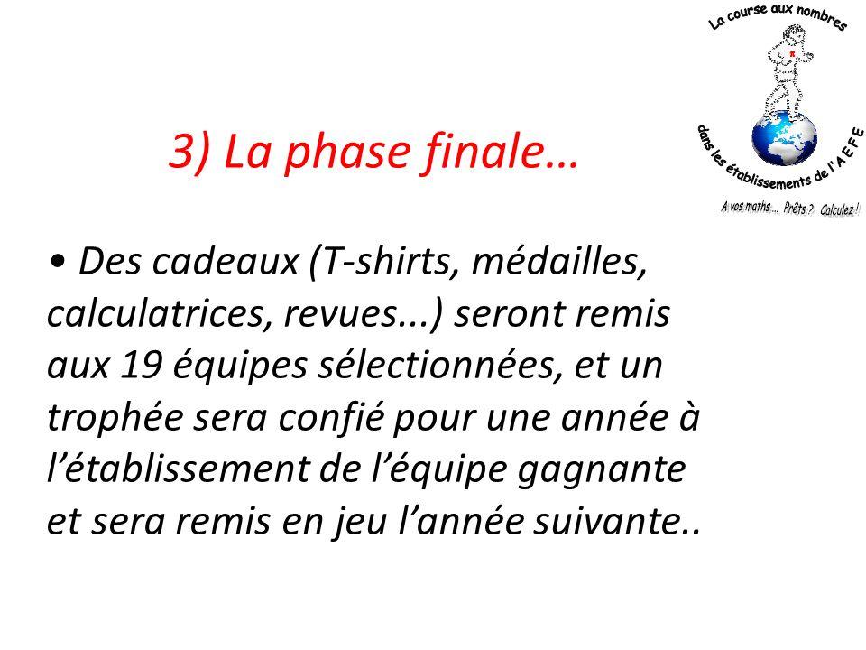3) La phase finale…