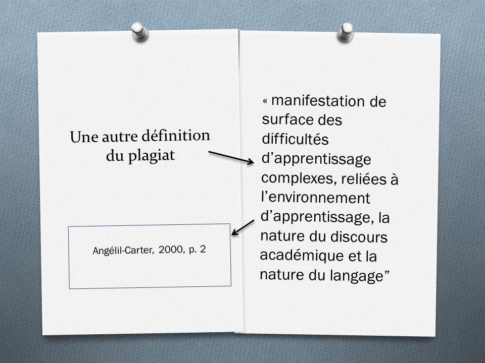 Une autre définition du plagiat