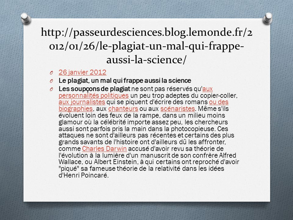 http://passeurdesciences. blog. lemonde