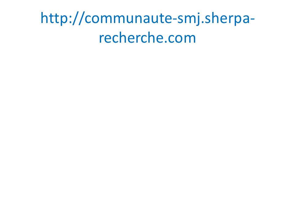 http://communaute-smj.sherpa-recherche.com