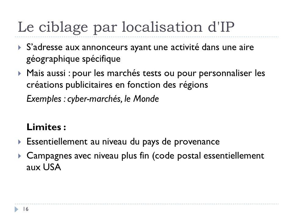 Le ciblage par localisation d IP