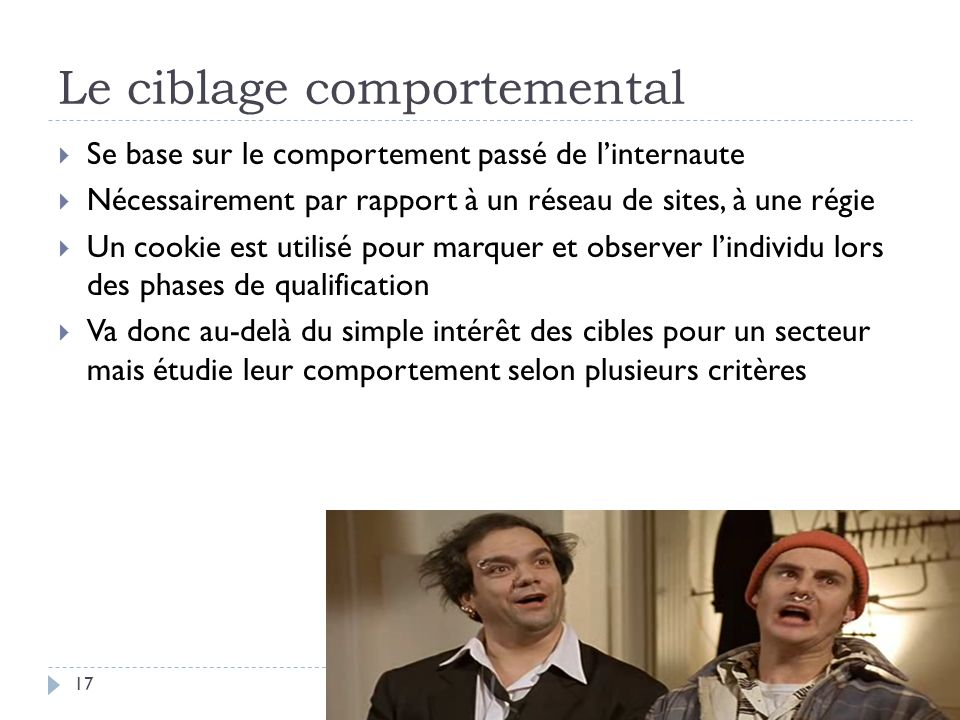 Le ciblage comportemental