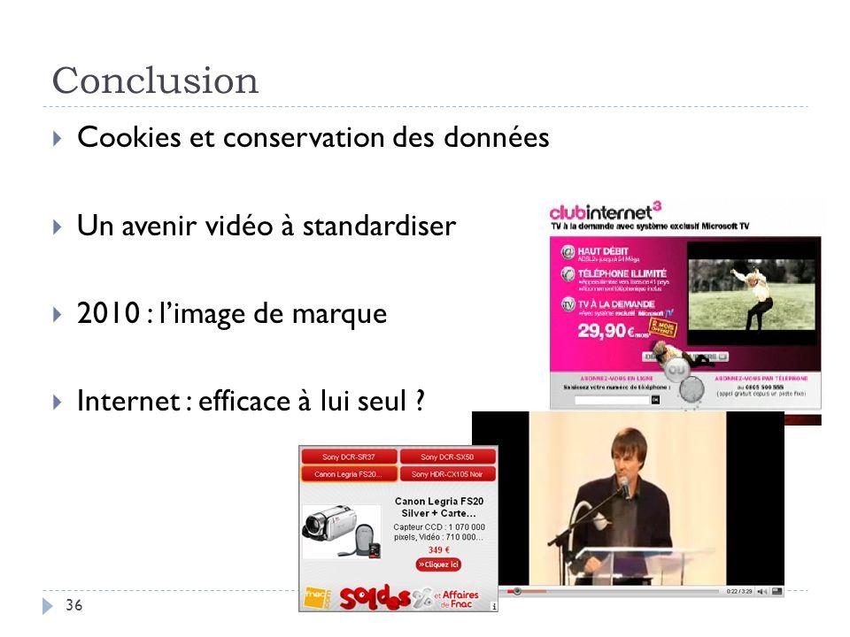 Conclusion Cookies et conservation des données