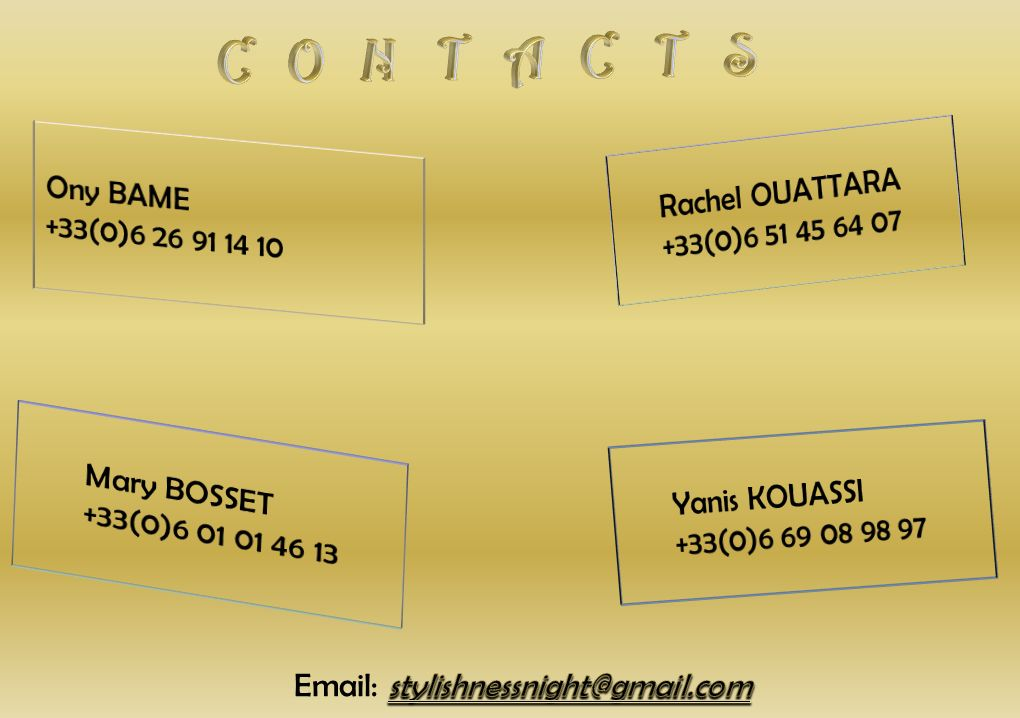 CONTACTS Rachel OUATTARA Ony BAME +33(0)6 51 45 64 07