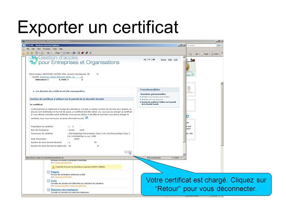 Exporter un certificat