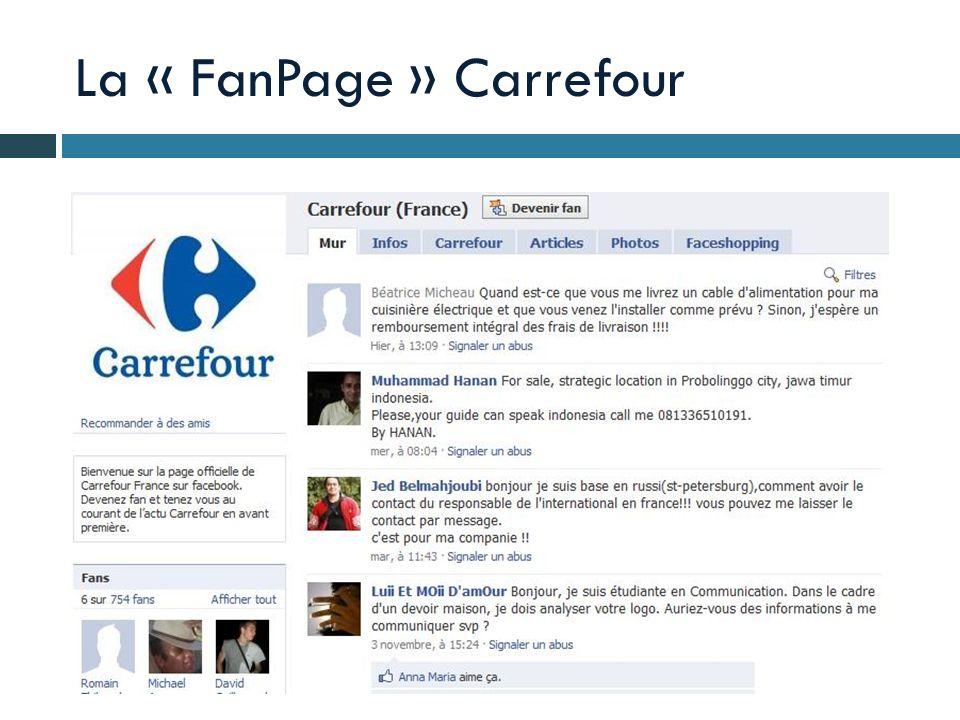 La « FanPage » Carrefour